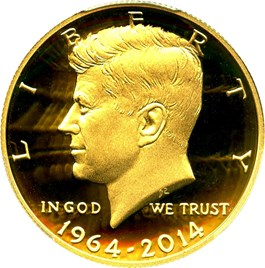 Image of 2014-W JFK 50th Anniversary 50c PCGS Proof 69 DCAM