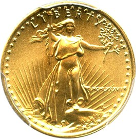 Image of 1987 Gold Eagle $5 PCGS MS69