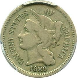 Image of 1880 3cN PCGS F15