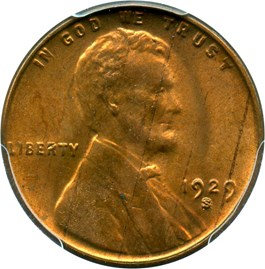 Image of 1929-S 1c PCGS MS64 RB