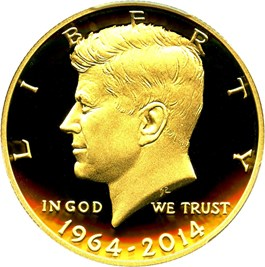 Image of 2014-W JFK 50th Anniversary 50c PCGS Proof 70 DCAM