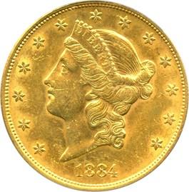 Image of 1884-S $20 PCGS AU58