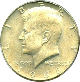 Image of 1966 50c PCGS MS65
