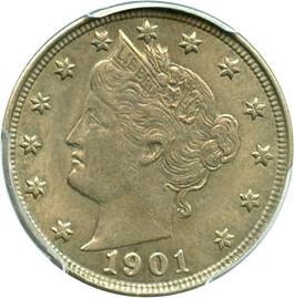 Image of 1901 5c PCGS AU55