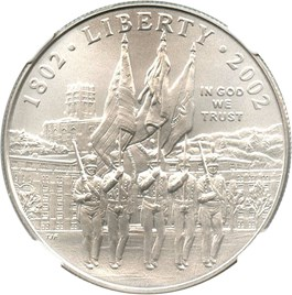 Image of 2002-W West Point Bicentennial $1 NGC MS70