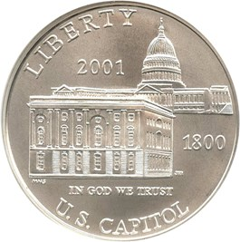 Image of 2001-P Capitol Visitors Center $1 NGC MS70