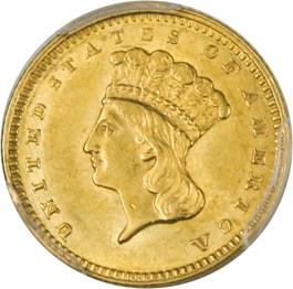 Image of 1861 G$1 PCGS MS61
