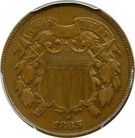 Image of 1865 2c PCGS XF45