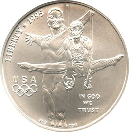 Image of 1995-D Olympic Gymnastics $1 NGC MS70