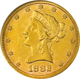 Image of 1882 $10 PCGS Genuine