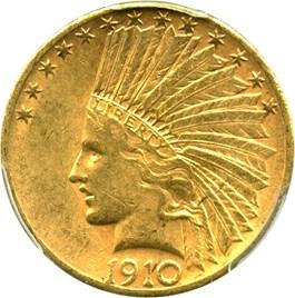 Image of 1910-S $10 PCGS/CAC AU58