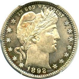 Image of 1892 25c PCGS/CAC MS63