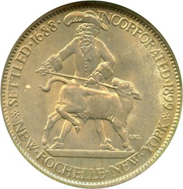 Image of 1938 New Rochelle 50c NGC/CAC MS65