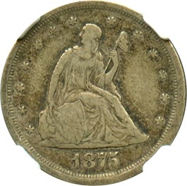 Image of 1875-S 20c NGC VF20