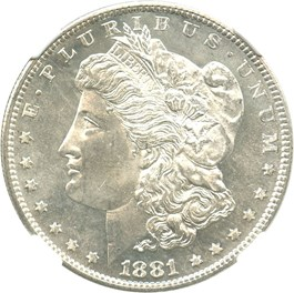 Image of 1881-S $1 NGC MS66