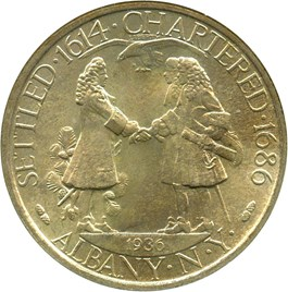 Image of 1936 Albany 50c NGC/CAC MS66