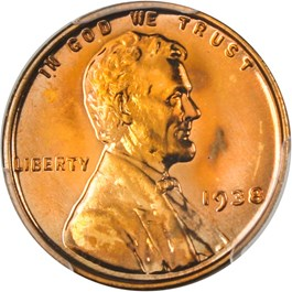 Image of 1938 1c PCGS/CAC Proof 67 RD