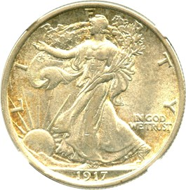 Image of 1917-D Reverse 50c NGC/CAC AU58