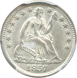 Image of 1857 H10c PCGS/CAC MS64