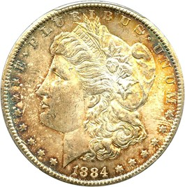 Image of 1884-CC $1 PCGS/CAC MS64+