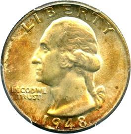 Image of 1948 25c PCGS/CAC MS67