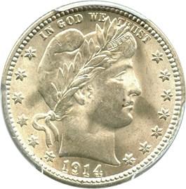 Image of 1914 25c PCGS/CAC MS64