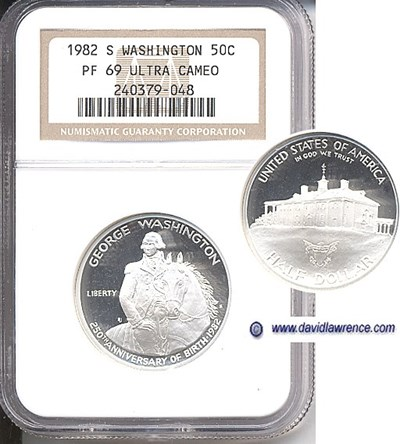 Image of 1982-S 50c Washington NGC Proof 69 UCameo