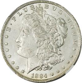 Image of 1884-O $1 NGC MS63