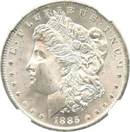 Image of 1885-O $1 NGC MS66