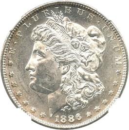 Image of 1886-S $1 NGC MS61