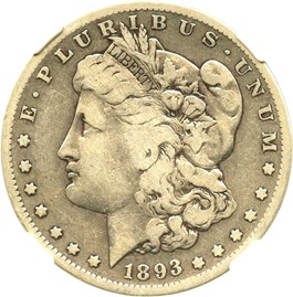 Image of 1893-S $1 NGC F12 (Highland Collection)
