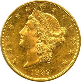 Image of 1899-S $20 PCGS MS61