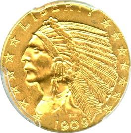 Image of 1909-D $5 PCGS MS62 - No Reserve!