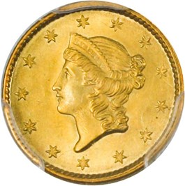 Image of 1853 G$1 PCGS/CAC MS65