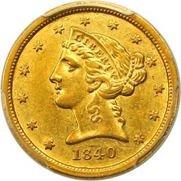 Image of 1840-C $5 PCGS AU55