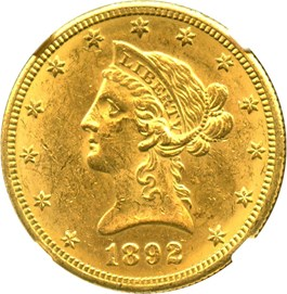 Image of 1892-O $10 NGC MS61