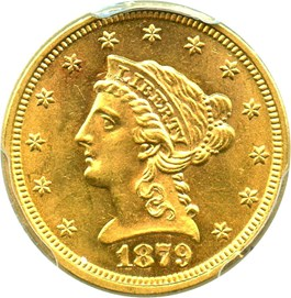 Image of 1879 $2 1/2 PCGS MS63