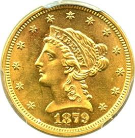 Image of 1879 $2 1/2 PCGS MS63