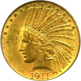 Image of 1911 $10 PCGS MS62