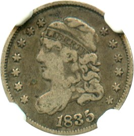 Image of 1835 H10c NGC F15 (Large Date, Large 5C)