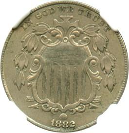 Image of 1882 5c NGC AU55