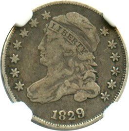 Image of 1829 10c NGC F15 (Small 10C, JR-7)