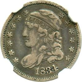 Image of 1834 H10c NGC VF30