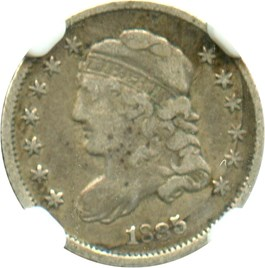 Image of 1835 H10c NGC VF25 (Small Date, Small 5C)