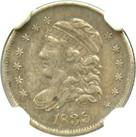 Image of 1835 H10c NGC VF35 (Large Date, Large 5C)