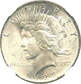 Image of 1923 $1 NGC MS66