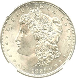 Image of 1921 Morgan $1 NGC MS65