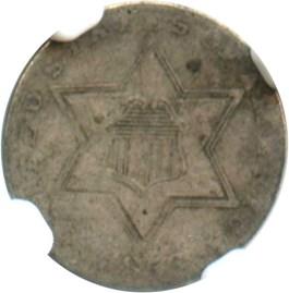 Image of 1856 3cS NGC VF25