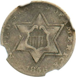 Image of 1856 3cS NGC VF20