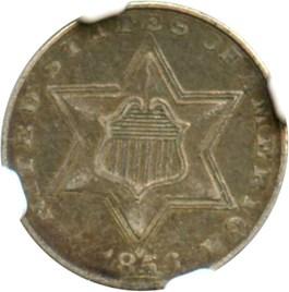 Image of 1856 3cS NGC XF40